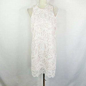Aritzia Babaton Dress Sz 10 White Pink Lace